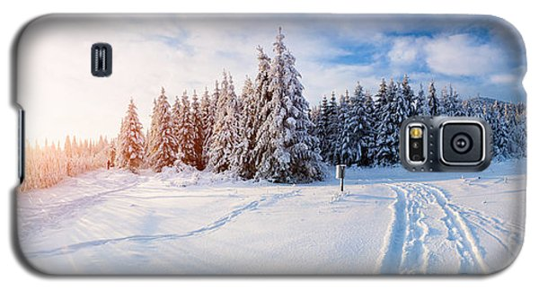 Icy Galaxy S5 Case - The Winter Road by Standret
