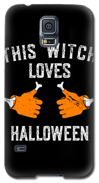 This Witch Loves Halloween Galaxy S5 Case