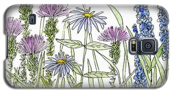 Thistle Asters Blue Flower Watercolor Wildflower Galaxy S5 Case