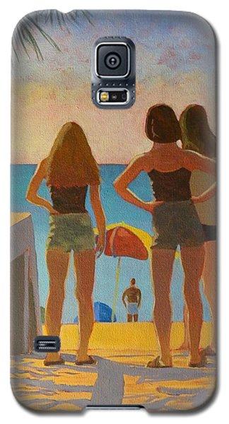 Three Beach Girls Galaxy S5 Case