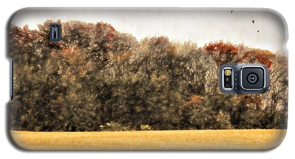 Three Crows And Golden Field Galaxy S5 Case