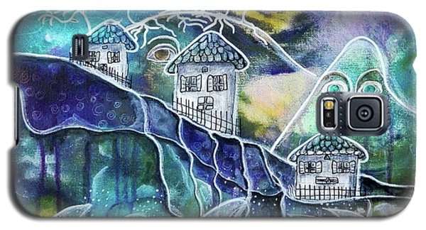 Three Houses On A Cliff Galaxy S5 Case