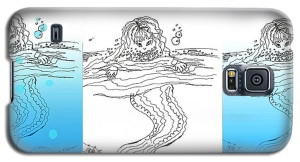 Three Mermaids All In A Row Galaxy S5 Case