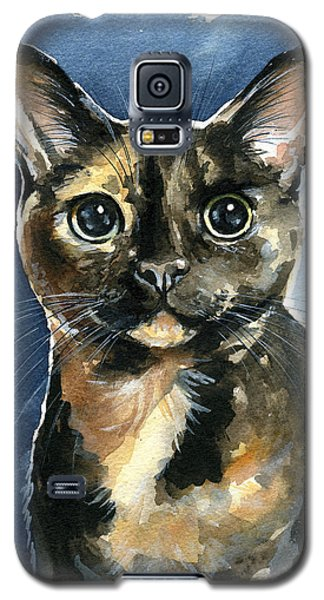 Tiffany Tortoiseshell Cat Painting Galaxy S5 Case