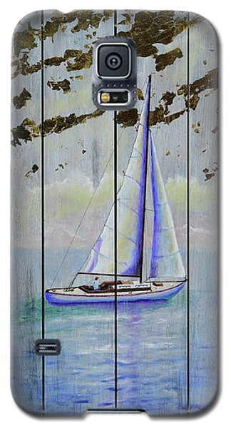 Galaxy S5 Case featuring the painting Time To Sail by Mary Scott