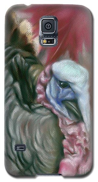 Tom Turkey With Red Maple Leaf Galaxy S5 Case