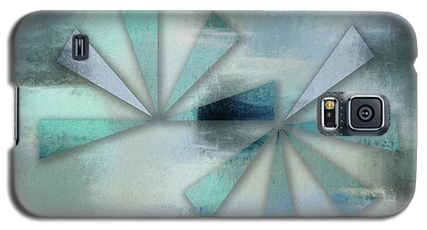 Triangles On Blue Grey Backdrop Galaxy S5 Case