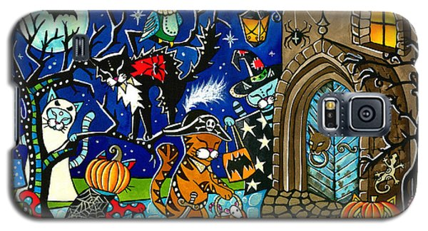 Trick Or Treat Halloween Cats Galaxy S5 Case