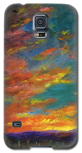 Triptych 1 Desert Sunset Galaxy S5 Case
