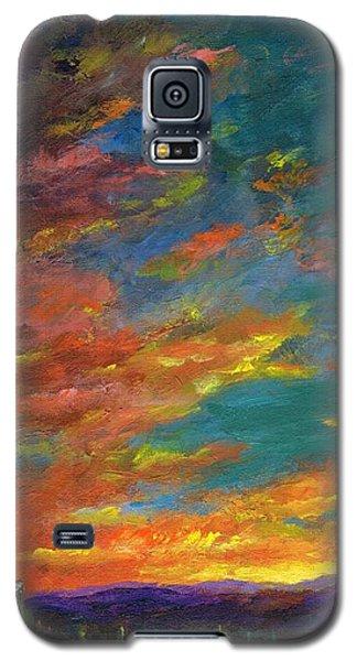 Triptych 1 Desert Sunset Galaxy S5 Case