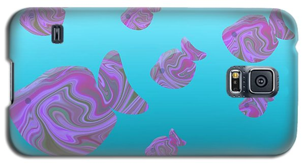 Tropical Fish In Pink Psychedelic Pattern Galaxy S5 Case