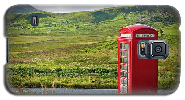 Typical Red English Telephone Box In A Rural Area Near A Road. Galaxy S5 Case