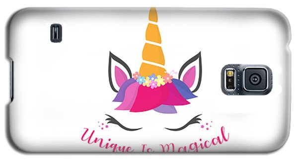 Unique Is Magical - Baby Room Nursery Art Poster Print Galaxy S5 Case