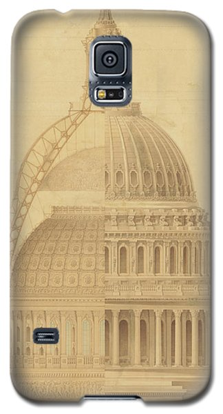 United States Capitol, Section Of Dome, 1855 Galaxy S5 Case