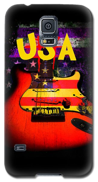 Usa Flag Guitar Purple Stars And Bars Galaxy S5 Case