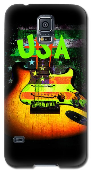 Usa Strat Guitar Music Green Theme Galaxy S5 Case