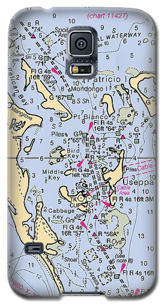 Useppa,cabbage Key,cayo Costa Nautical Chart Galaxy S5 Case