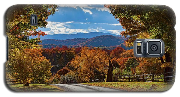 Vermont Backroad Ramble In Autumn Galaxy S5 Case