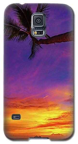 Vibrant Kona Inn Sunset Galaxy S5 Case