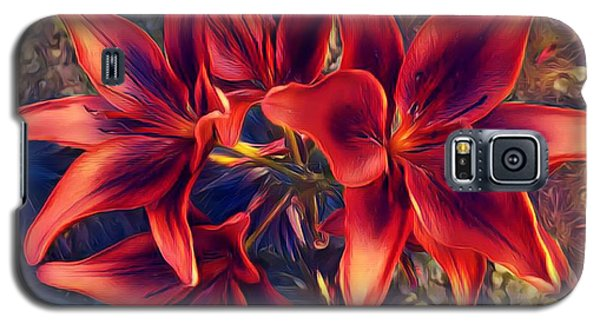 Vibrant Red Lilies Galaxy S5 Case