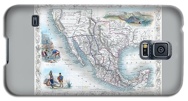Vingage Map Of Texas, California And Mexico Galaxy S5 Case