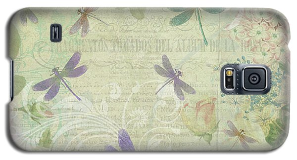 Vintage Botanical Illustrations And Dragonflies Galaxy S5 Case