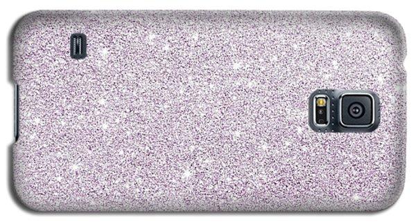 Violet Glitter Galaxy S5 Case