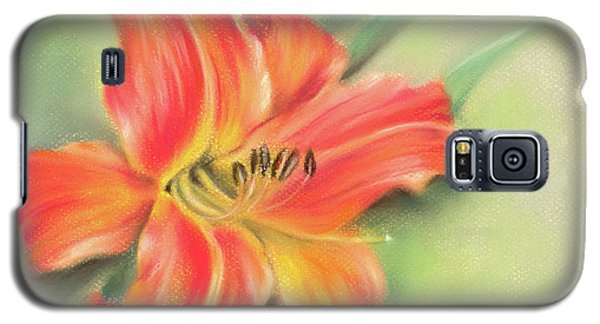 Vivid Orange Daylily Galaxy S5 Case