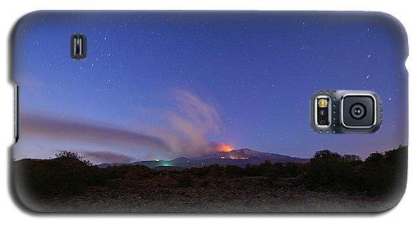 Volcano Etna Eruption Galaxy S5 Case