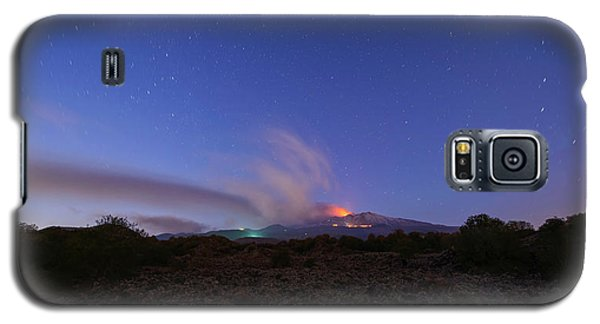 Volcano Etna Eruption Galaxy S5 Case