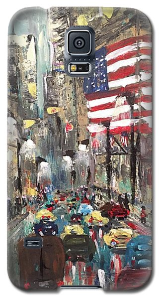 wall street NY Galaxy S5 Case
