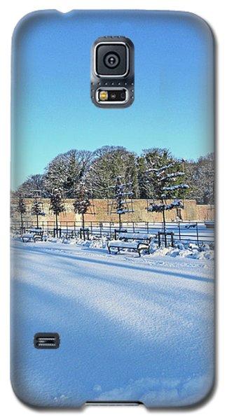 Walled Garden Winter Landscape Galaxy S5 Case