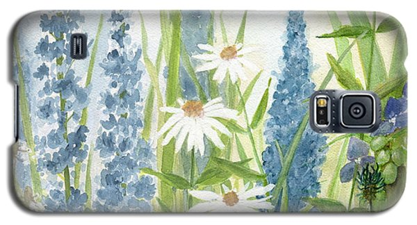 Watercolor Blue Flowers Galaxy S5 Case