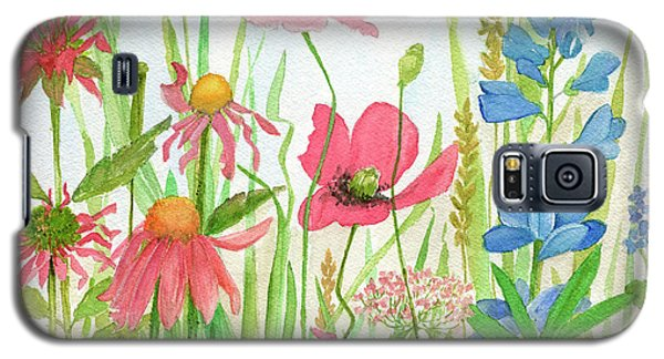 Watercolor Touch Of Blue Flowers Galaxy S5 Case