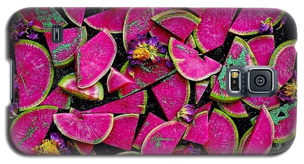 Watermelon Radish Edges Galaxy S5 Case