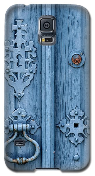 Weathered Blue Door Lock Galaxy S5 Case