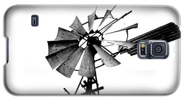 Weathered Windmill - B-w Galaxy S5 Case