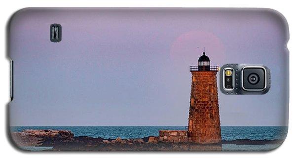 Whaleback Lighthouse Full Moon Rising Galaxy S5 Case