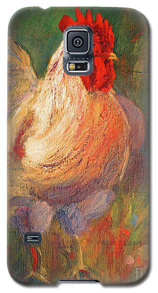 White And Red Chicken Against Green Galaxy S5 Case