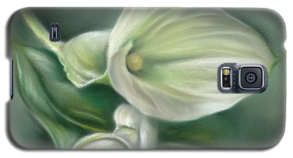 White Callas With Leaf Galaxy S5 Case