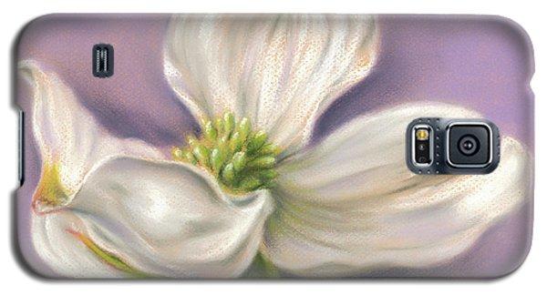 White Dogwood On Purple Galaxy S5 Case