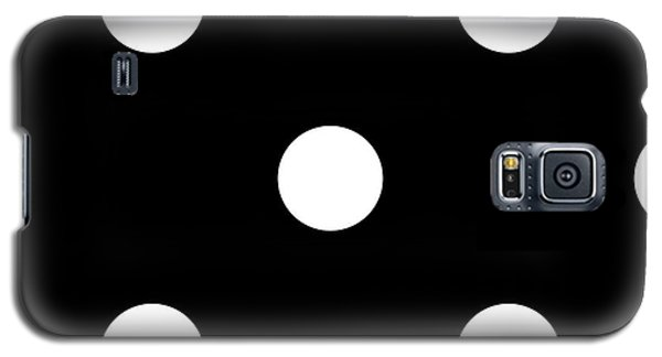 White Dots On A Black Background- Ddh612 Galaxy S5 Case