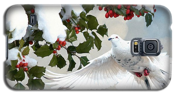 White Dove And Holly Galaxy S5 Case