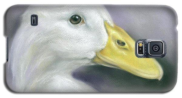White Duck On Purple Galaxy S5 Case