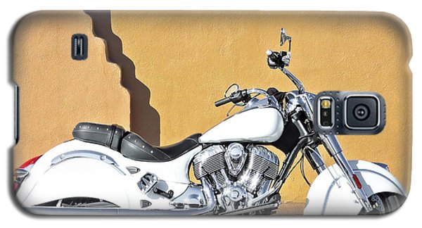 White Indian Motorcycle Galaxy S5 Case