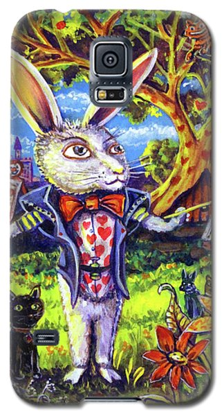 White Rabbit Alice In Wonderland Galaxy S5 Case