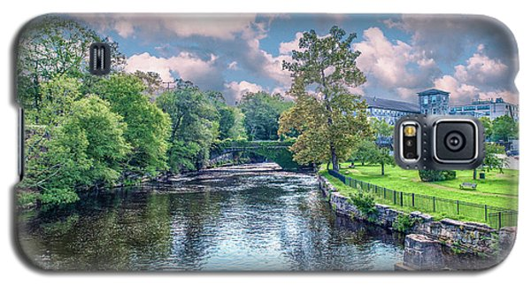 Willimantic River With Clouds Galaxy S5 Case