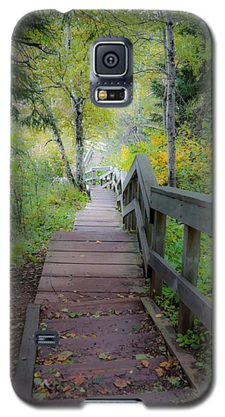 Winding Stairs In Autumn Galaxy S5 Case