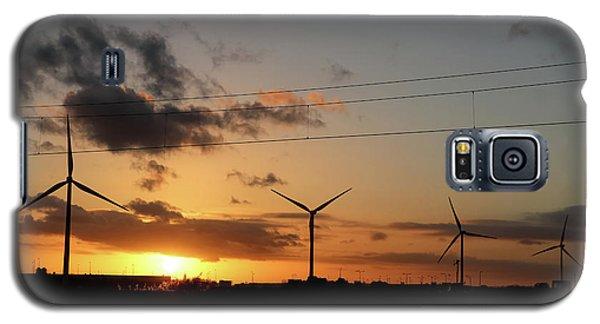 Windmill Sunset Galaxy S5 Case