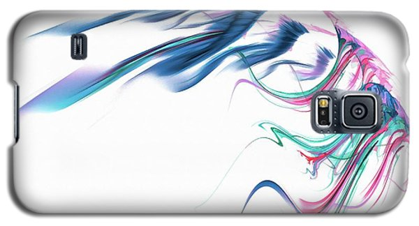 Wing Of Beauty Art Abstract Blue Galaxy S5 Case